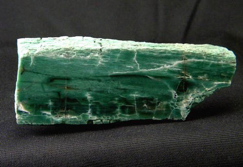 Rarely, specimens of chromium rich wood are found, such as this green wood