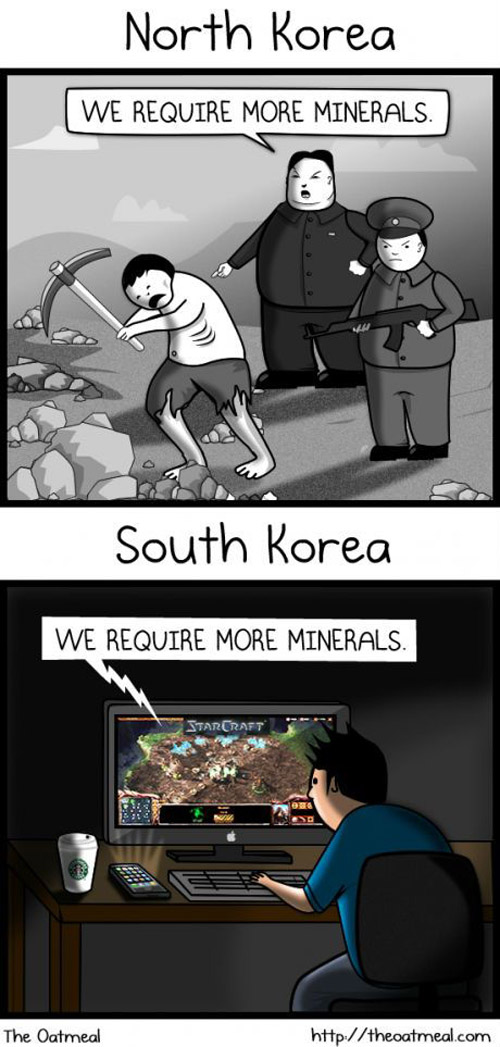 TheOatmeal Starcraft Meme for Minerals
