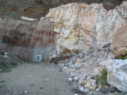 Entrance to the #2 Tunnel, or main adit of the Brown Derby #1 Pegmatite