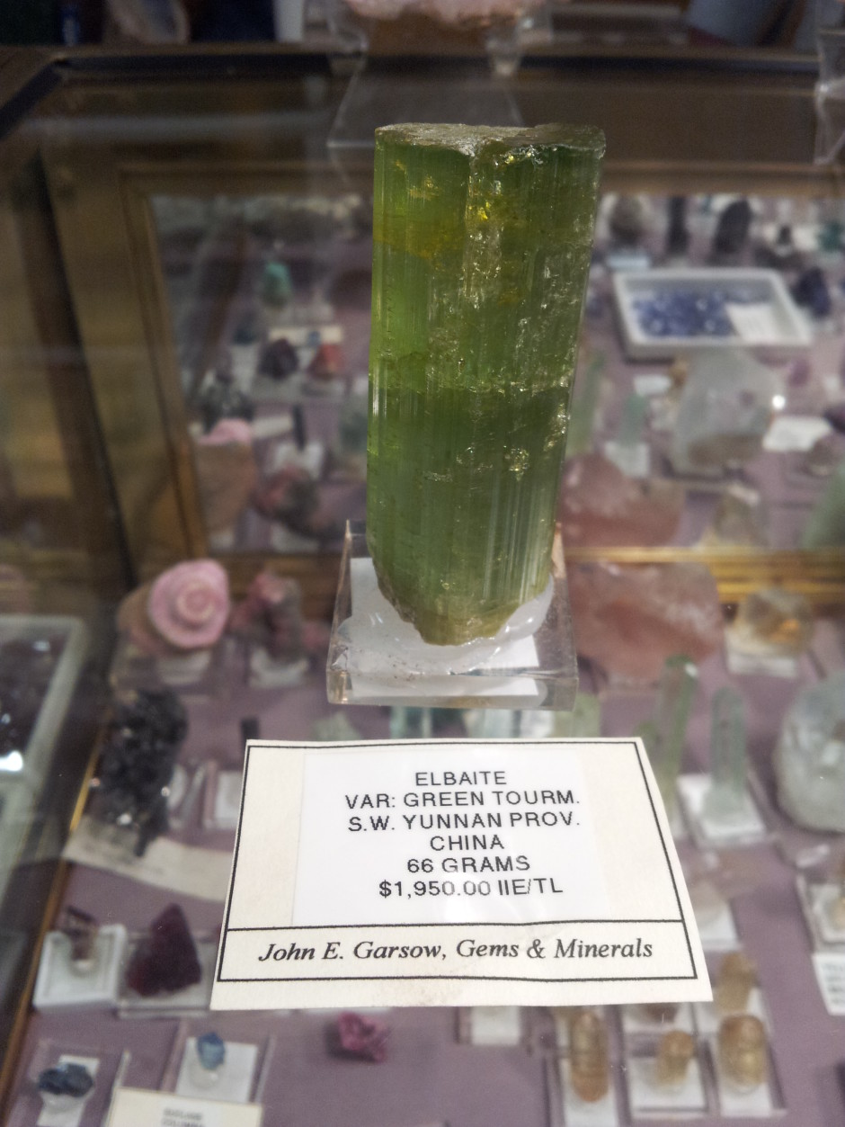 Gem Green Tourmaline from China