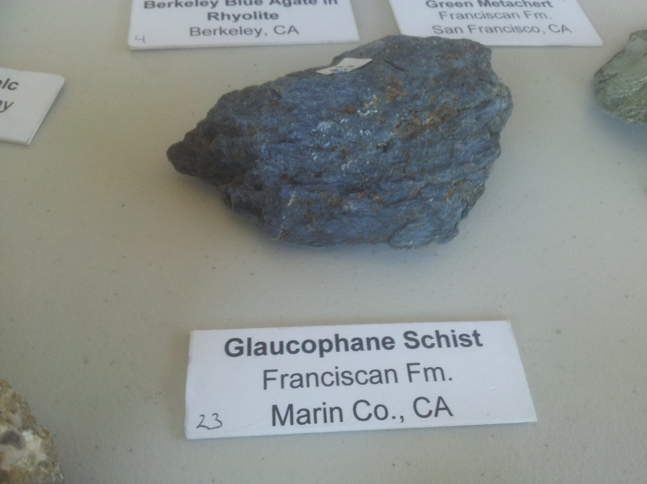 Glaucophane Schist from the Franciscan Formation in Marin County