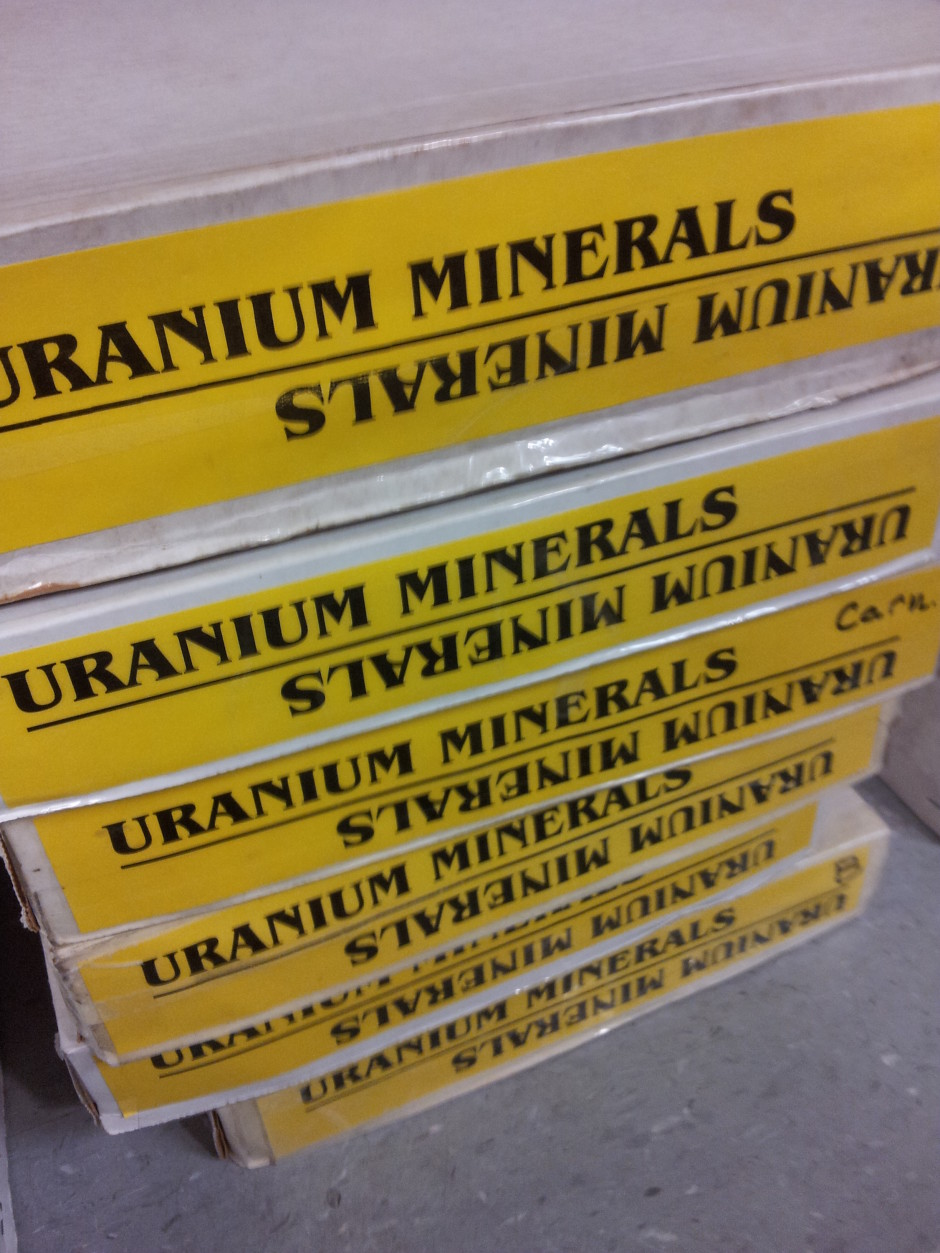 Uranium Minerals for sale at the Mineral Show