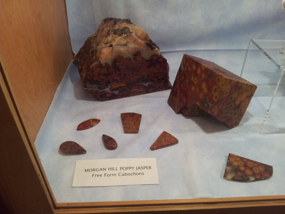 Morgan Hill Poppy Jasper on Display