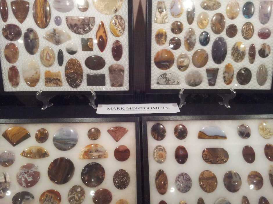 Cabochons on Display by Mark Montgomery at the 2014 Castro Valley Show