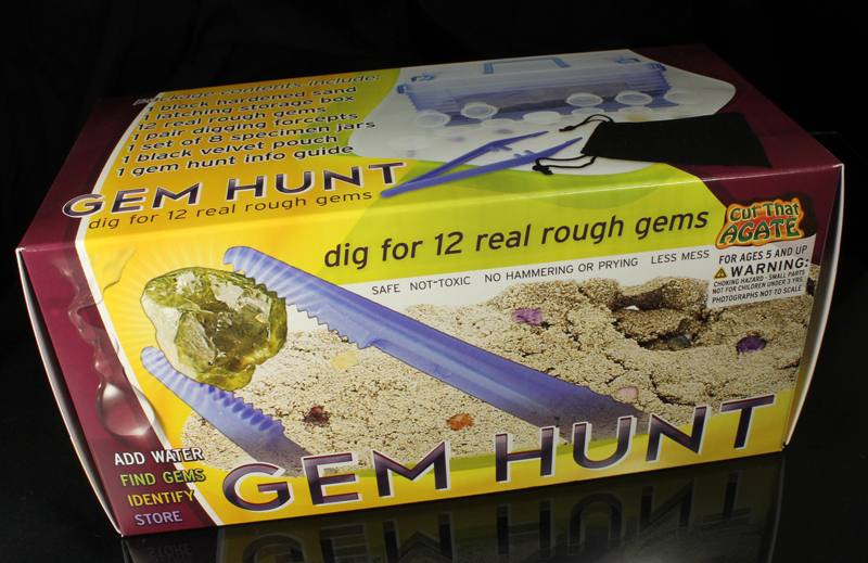 Gem Hunt - Mine Your Own Gem Rough - Educational Toy Kit