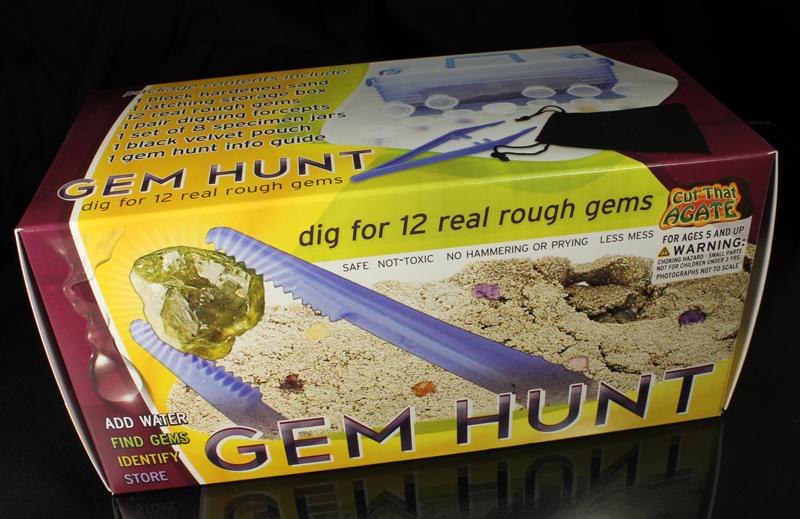 Gem Hunt - Mine Your Own Gem Rough - Educational Toy Kit