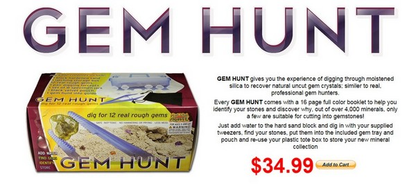 Gem Hunt - Find Gems and learn about Gemstones!