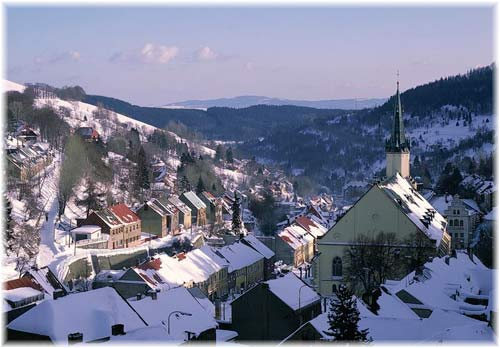 Jachymov Village in winter (photo © prague-guide.co.uk)