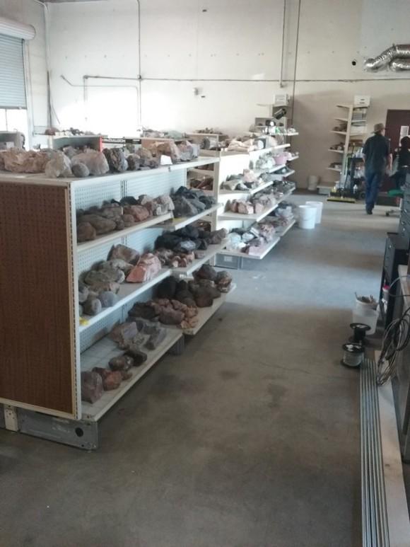 Shelves full of lapidary rough await you!