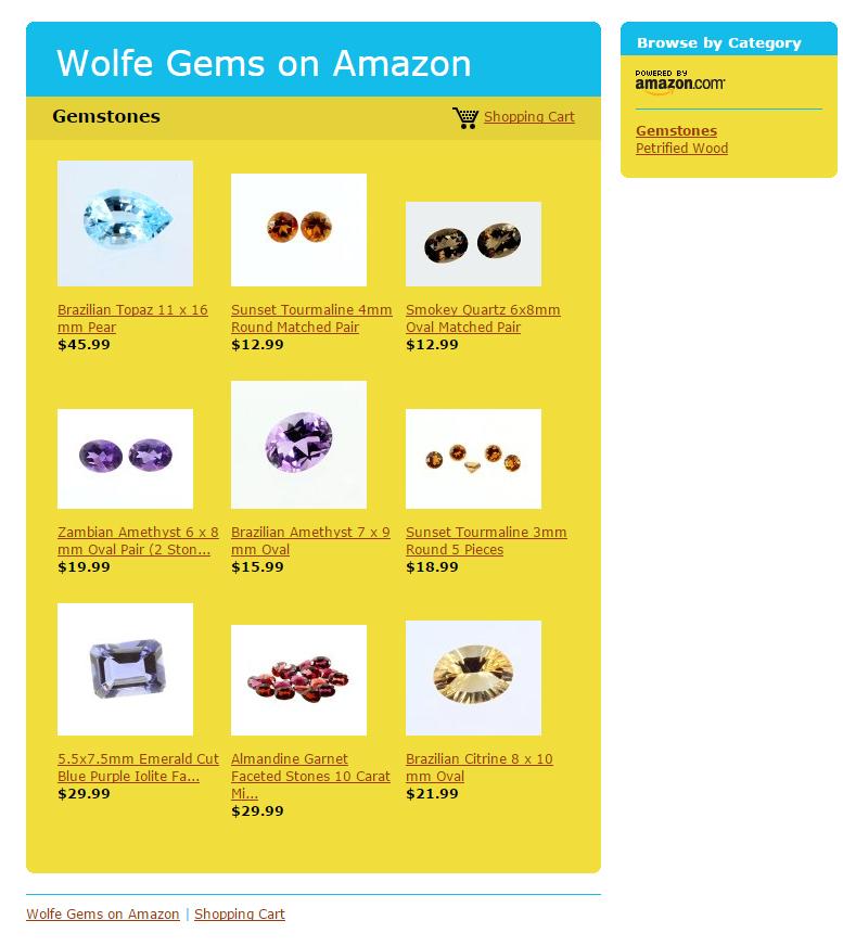 Find Gemstones on Amazon