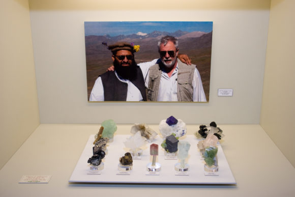 Herb Obboda traveled in the Afghanistan and Pakistan mountains in search for the very finest crystallized minerals found in those rich deposits.