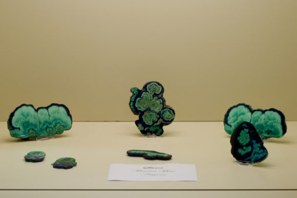 Beautiful Malachite Slices from the American Classics of Bill Larson/Pala display in 2011