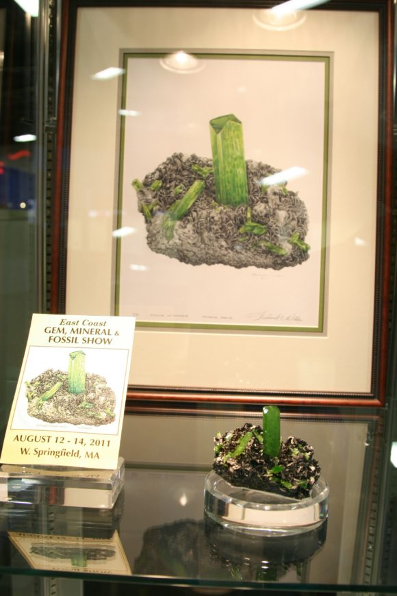 Scott Rudolph's collection from 2011 featuring this beautiful Diopside on Graphite.