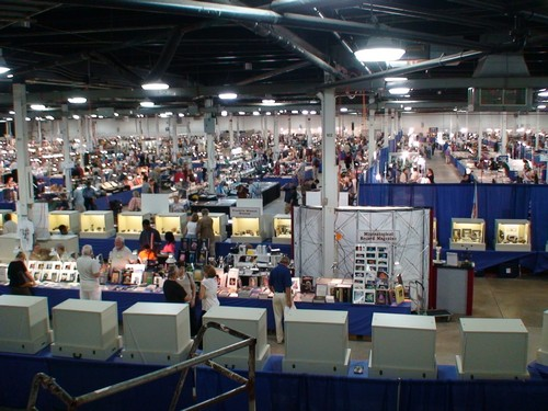 Overhead shot of the 2007 East Coast Mineral Show in West Springfield, Mass