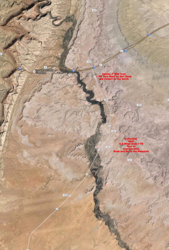 map to jasper locations near hanskville utah